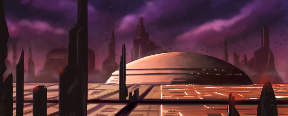 Speed_painting___Coruscant_by_Ismael1977